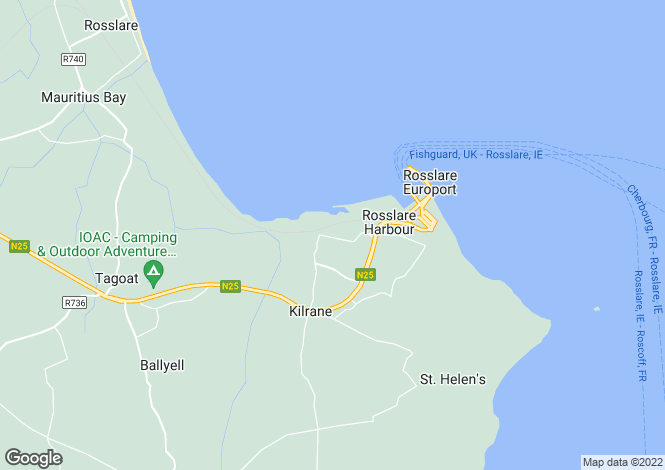 Map for Ballygeary, Rosslare, Wexford