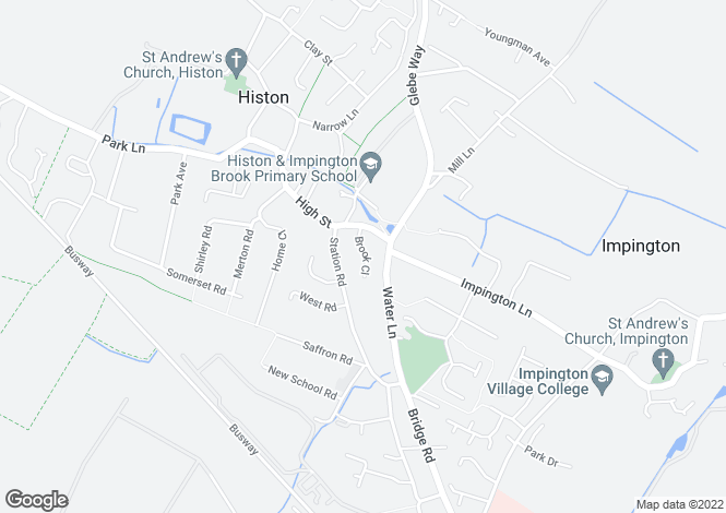 Map for Brook Close, Histon CB24 9XL