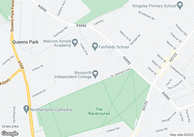 Map for Trinity Avenue, Kingsley, Northampton