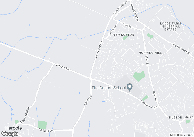 Map for Poitiers Court, Duston, Northamptonshire