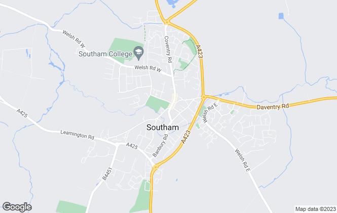 Map for Inside Homes Ltd, Southam