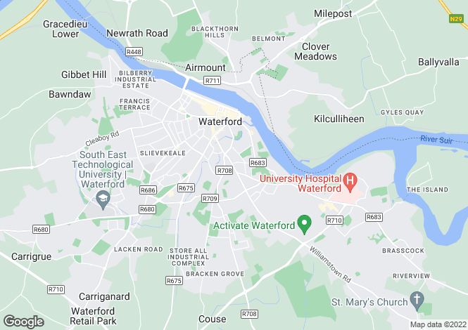 Map for 20 Grosvenor Terrace, John's Hill, Waterford City, Waterford