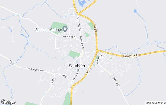 Map for Loveitts, Southam