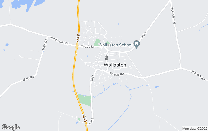 Map for Matthew Nicholas Estate Agents, Wollaston