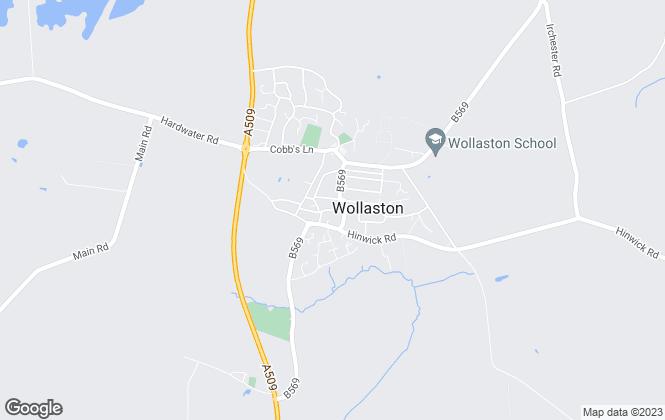 Map for Matthew Nicholas Estate Agents, Wollaston