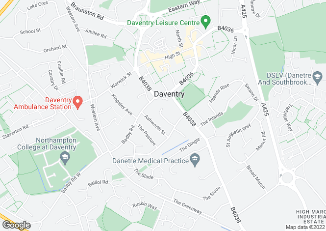 Map for Spinney Rise, Daventry, Northamptonshire, NN11
