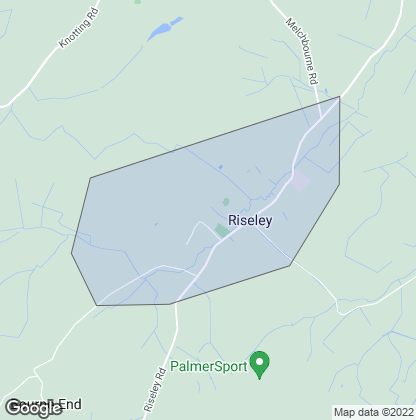 Map of property in Riseley