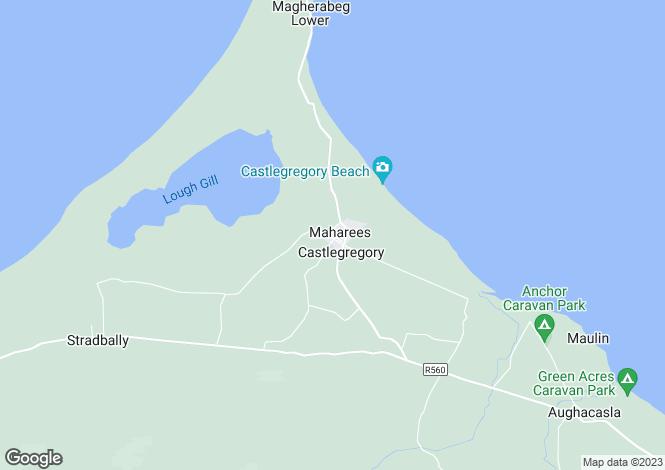 Map for 3 Hazel Court, Castlegregory, Co Kerry