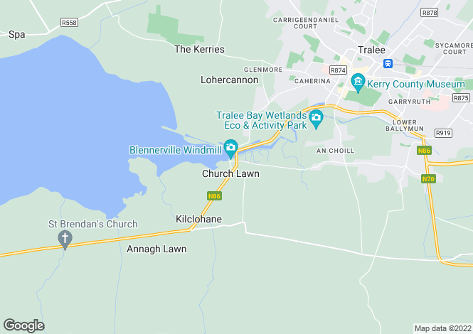 Map for Blennerville, Kerry