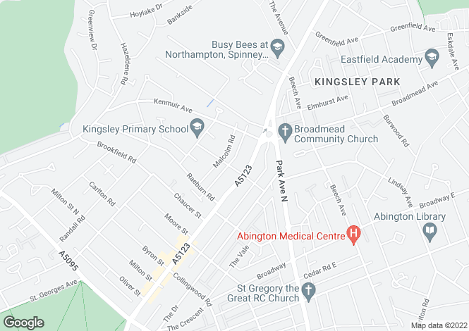 Map for Kettering Road, Northampton, Northamptonshire
