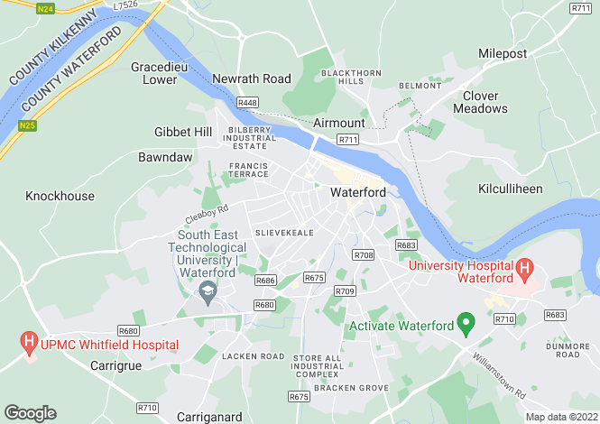 Map for Waterford, Waterford