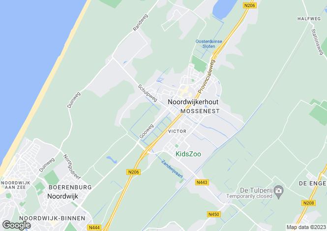 Map for Zuid-Holland, Noordwijkerhout