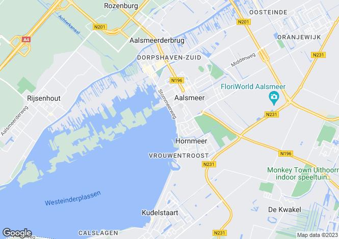 Map for Aalsmeer, Noord-Holland