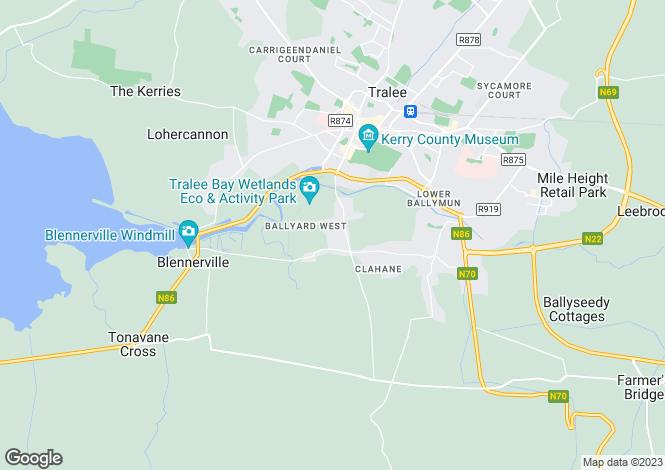 Map for 11 Glen Scotia, Ballyard, Tralee, County Kerry.  V92 CKT7
