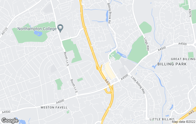 Map for Underwoods, Northampton