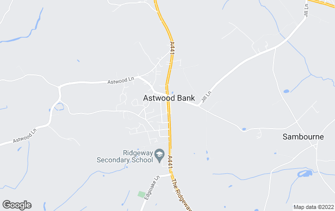 Map for Jeremy McGinn & Co, Astwood Bank