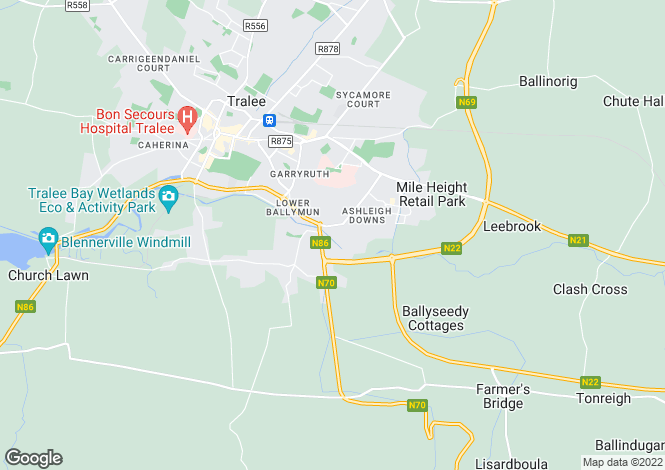 Map for 4 Manor Close, Manor Village, Tralee, County Kerry. V92K4XN