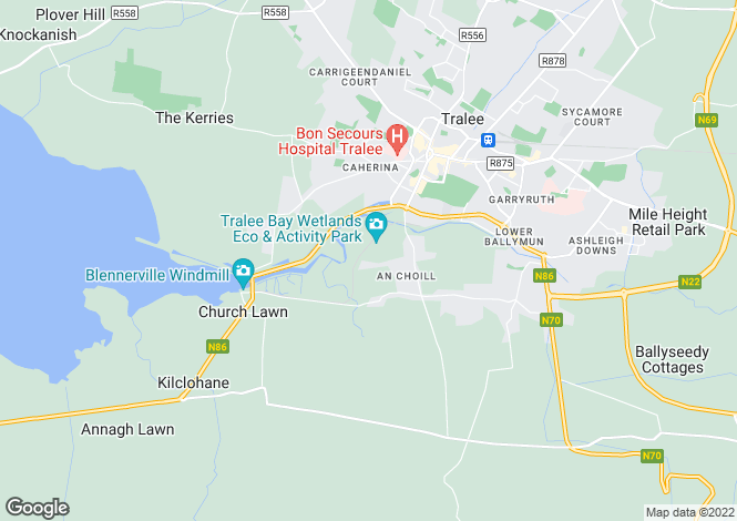 Map for Clahane, Ballyard, Tralee, Co.Kerry, V92 X59W