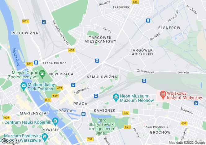 Map for Warsaw, Mazovia