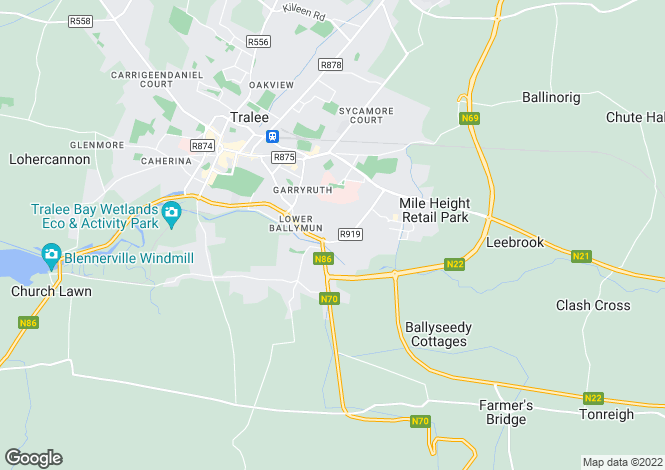 Map for Tralee, Kerry