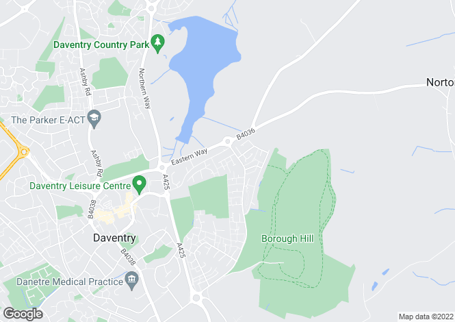 Map for Hawkins Close, Daventry, Northampton NN11 4JG