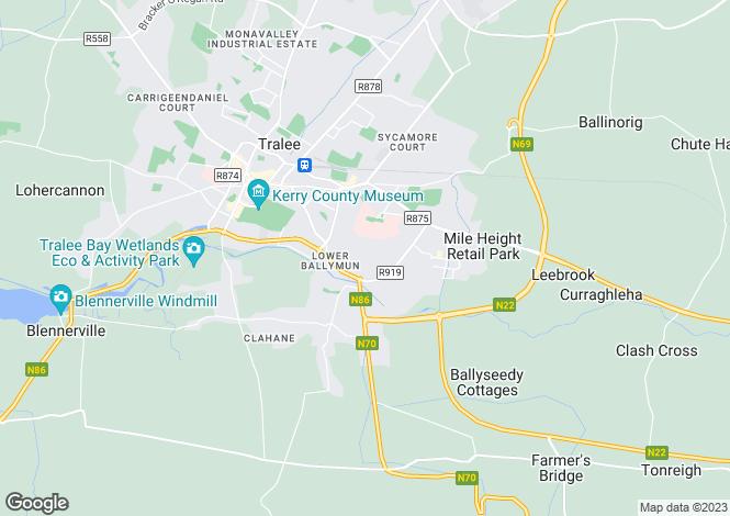 Map for 46 Castlewood Park, Killerisk, Tralee, County Kerry. V92 C3C8.
