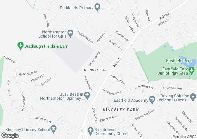 Map for Mountfield Road,