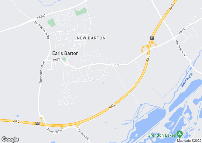 Map for Cordon Crescent, Earls Barton
