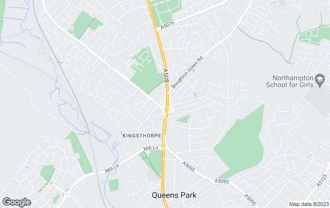 Map for O'Riordan Bond, Kingsthorpe