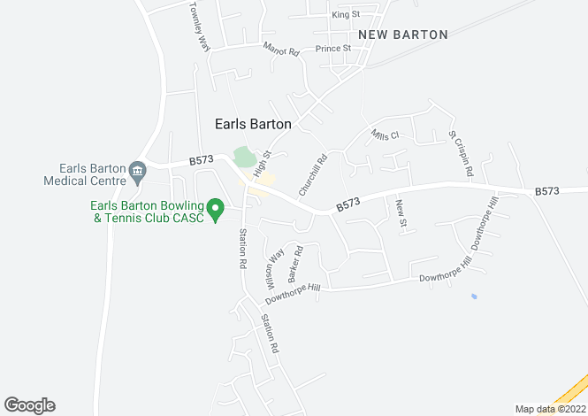 Map for Broad Street Mews, Earls Barton