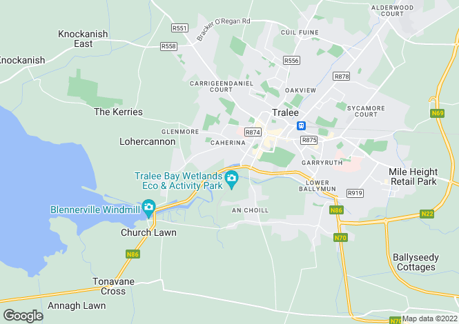 Map for 43 The Marina Apartments, Tralee, County Kerry.  V92 AX97