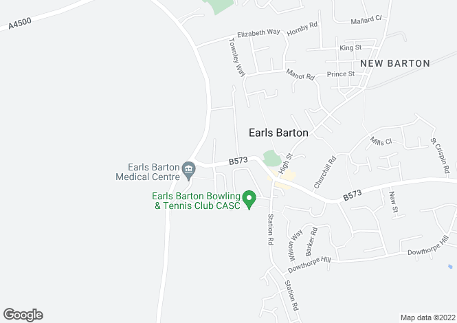 Map for West Street, Earls Barton