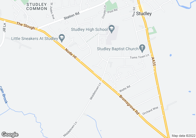 Map for The Grove, Studley