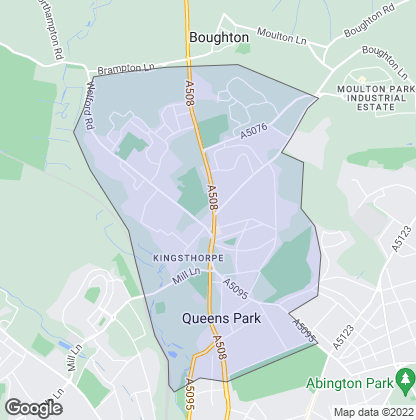 Map of property in Kingsthorpe