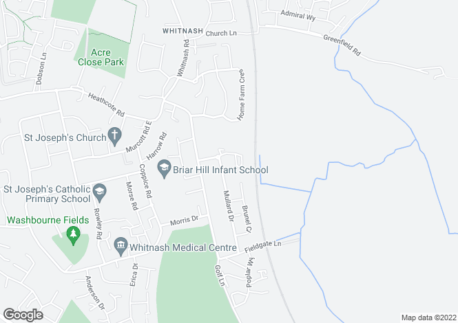 Map for Box Close, Whitnash, Leamington Spa