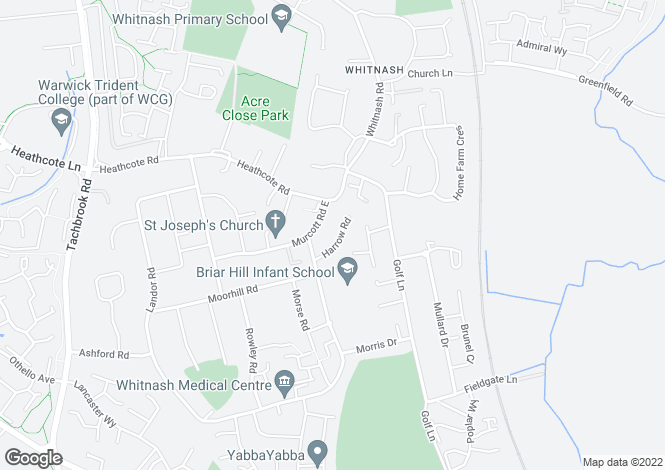 Map for Harrow Road, Whitnash, Leamington Spa, CV31 2JD