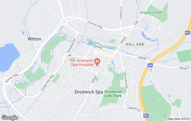 Map for Andrew Grant, Droitwich