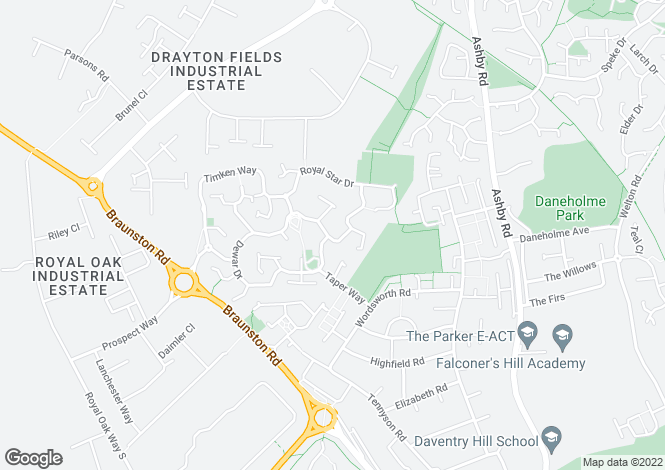 Map for Furnace Drive, Daventry NN11 9FU