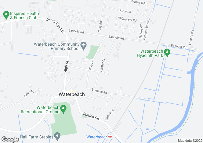 Map for Pieces Lane, Waterbeach