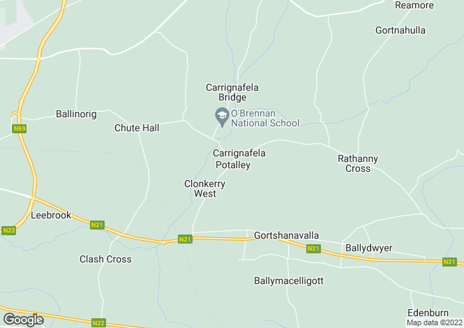 Map for Kilquane, Ballymacelligott, Tralee, County Kerry. V92 A6DD