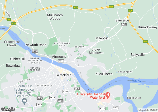 Map for Linden, Ferrybank, Waterford City, Waterford