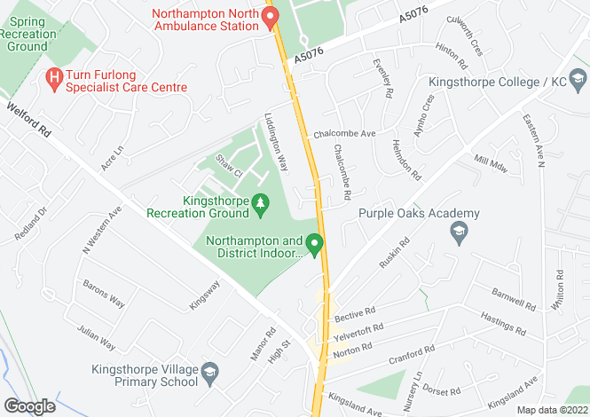 Map for Park View Court, Wallbeck Close, Northampton, Northamptonshire