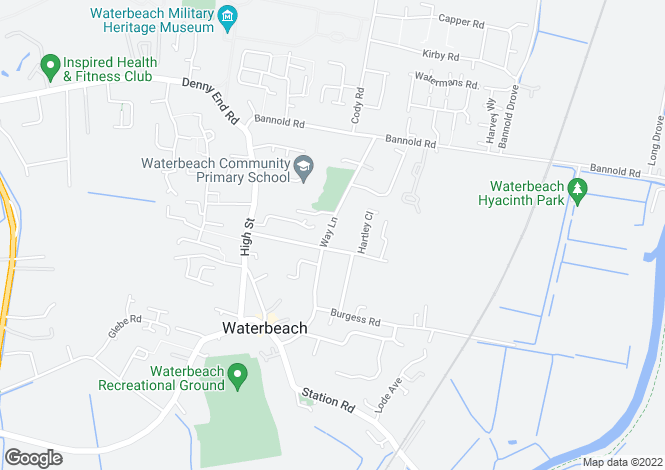 Map for Waterbeach, Cambridge