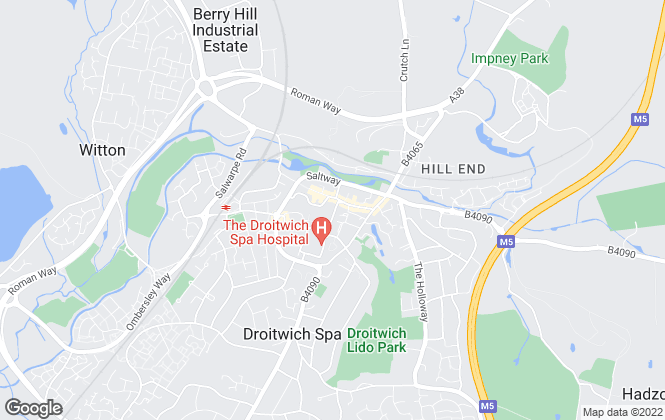 Map for Allan Morris, Droitwich Spa - Lettings