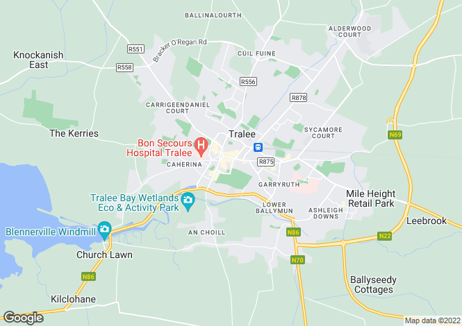 Map for 9/10 Denny Street, Tralee, Co.Kerry