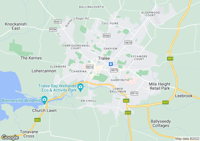 Map for Clounsharragh, Cloghane, Castlegregory, Tralee, County Kerry