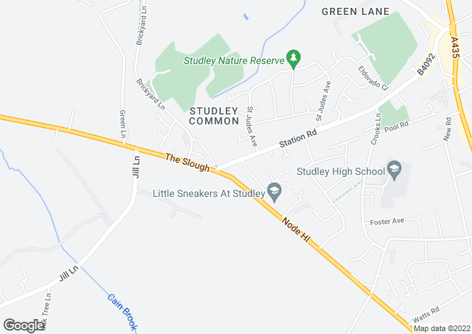 Map for Station Road, Studley