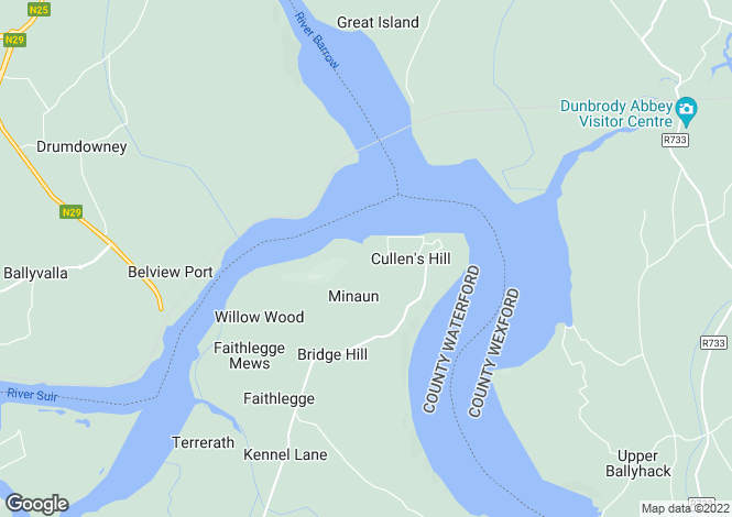 Map for Minaun, Cheekpoint, Waterford