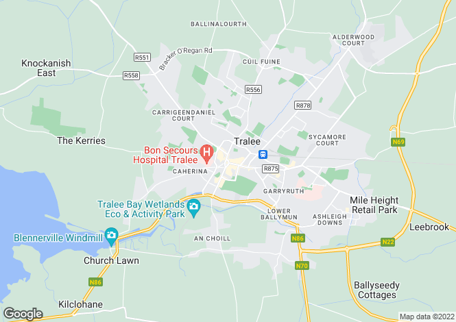 Map for Russell Street, Tralee, Kerry