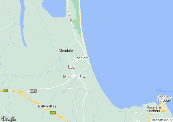 Map for 13 South Bay Point, Strand Road, Rosslare Strand, Co. Wexford